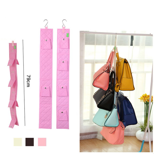6 Hook Folding Handbag Purse Holder Shelf Wallet Handbag Rack Closet Bags  Storage Organizer Wall Mount Storage Hanger Hook