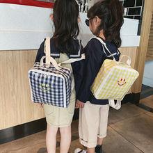Toddler Kids Children Transparent Boy Girl Plaid Backpack Schoolbag Rucksack Baby Fashion Organizer Storage  Backpacks