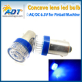 100PCS Ba9s #44 #47 Bayonet AC DC 6V/6.3V 2*5630 SMD+ Flat Cap LED Pinball Machine Light Bulb Lamp Super White Non ghosting