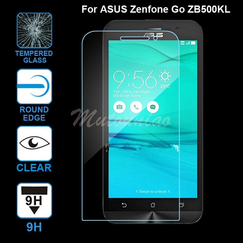 Mutouniao 3 шт. <font><b>ZB500KL</b></font> Плёнки для <font><b>Asus</b></font> <font><b>Zenfone</b></font> Go <font><b>ZB500KL</b></font> CLEAR, 9 H Премиум закаленное Стекло Экран протектор Анти- поцарапать телефон Плёнки