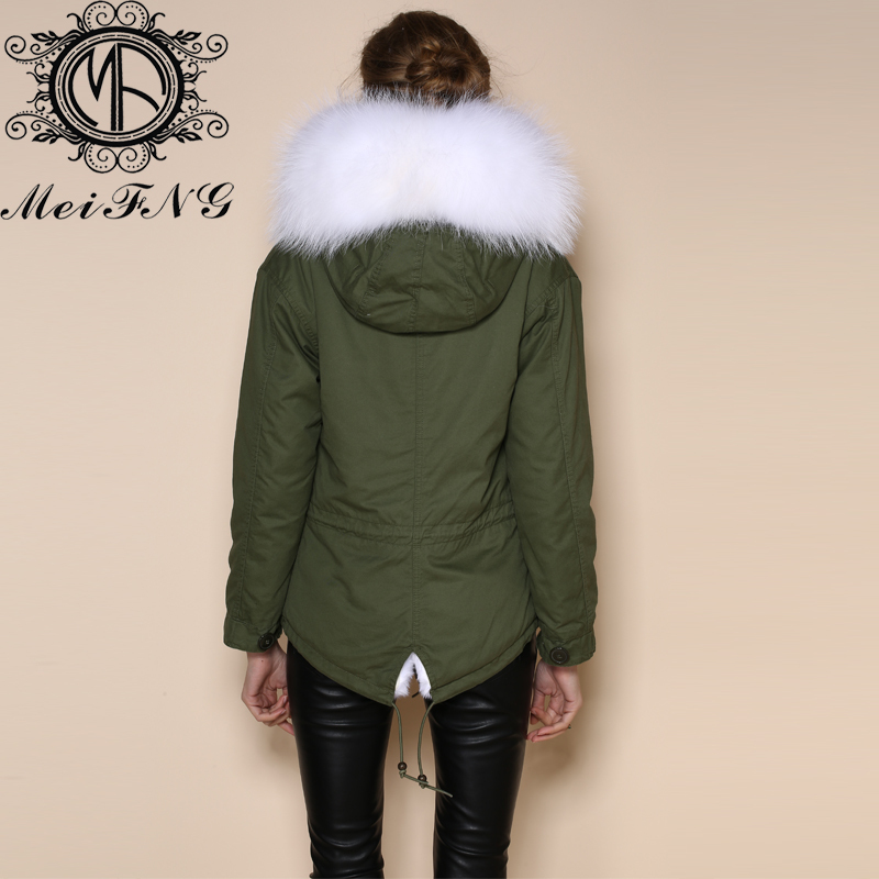 Images of Green Jacket With Fur Hood - Reikian