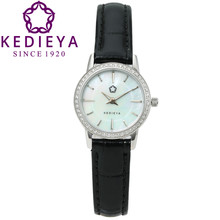 KEDIEYA Watch Brand Watches Women Fashion Round Pearl Quartz Watch AAA Zircon Gems Dress Gift Wrist Watches for Women