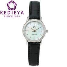 KEDIEYA Watch Brand Watches Women Fashion Round Pearl Quartz Watch AAA Zircon Gems Dress Gift Wrist Watches for Women