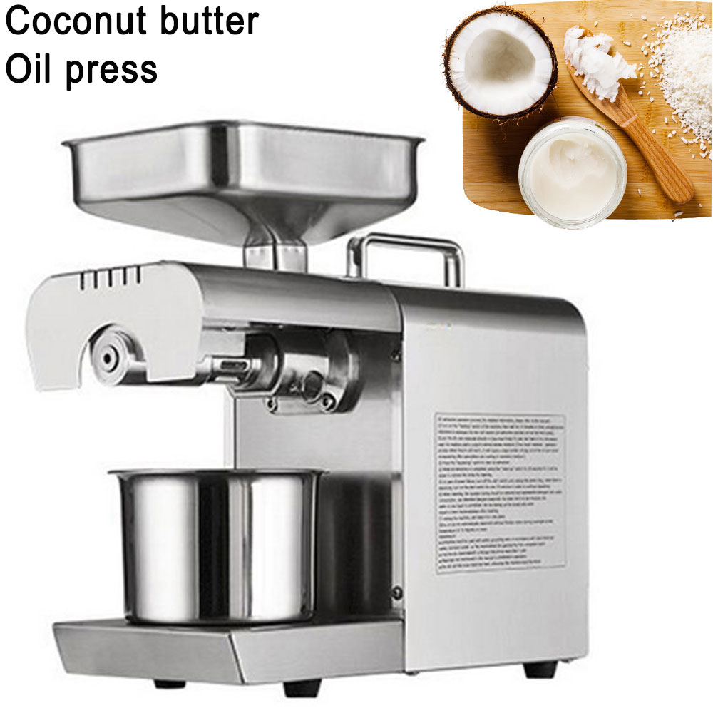 Best Price 220V Hot And Cold Home Oil Press Machine Peanut Soy Bean Cocoa Oil Press Machine High Oil Extraction Rate For Sale free shipping 110v 220v heat and cold home oil press machine peanut cocoa soy bean oil press machine high oil extraction rate