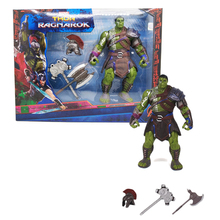 цена 20CM Thor 3 Ragnarok Hulk Robert Bruce Banner PVC Action Figure Collectible Model Kids Toys онлайн в 2017 году