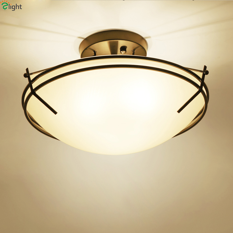 American Retro Metal Led Ceiling Lights Luminaria Lustre Glass Dining Room Led Ceiling Lamp Bedroom Led Ceiling Light Fixtures american retro iron e27 led ceiling lights lustre glass bedroom led ceiling lamp balcony led ceiling lighting light fixtures
