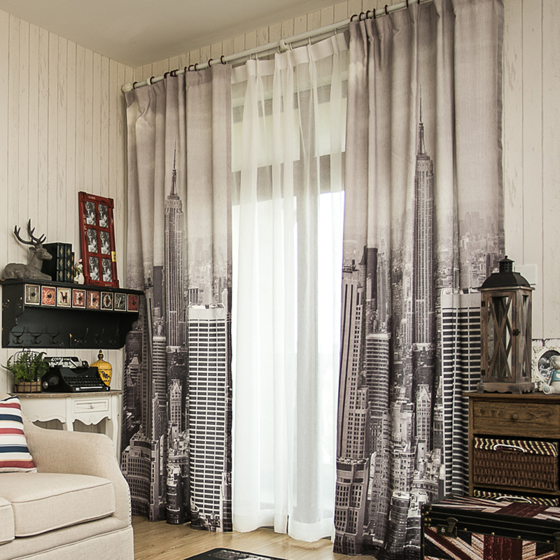 3d Linen Cheap Curtain Fabrics Paris Eiffel Tower Blinds Blackout Curtains For Living Room Bedroom Window Door In From Home