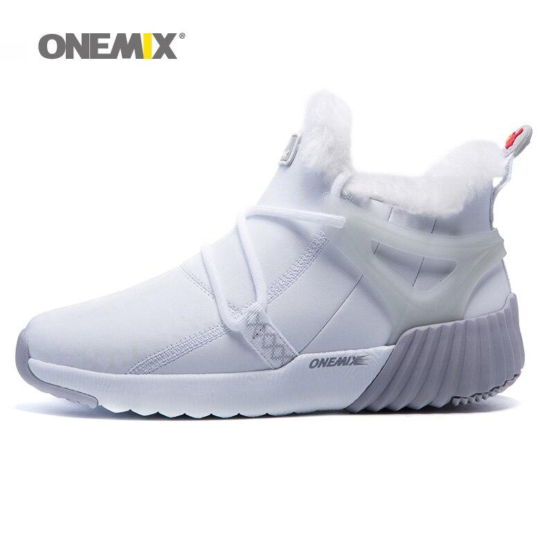 Onemix Sapatos de Inverno Mulheres Camurça Couro Cabeludo Duráveis Tênis Sapatilhas Sapatos de Desporto Sapatos de Inverno Bota Quente Ao Ar Livre Frete Grátis