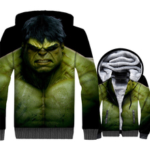 fashion Hulk 3D printed jackets coats 2019 winter casual wool liner tracksuits thick zip streetwear Super hero hoodies men hoody