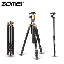 ZOMEI Z818 Protable Aluminum Magnesium Aolly Tripod Travel Camera Tripod with Ball Head Monopod Flexible For DSLR Video Camera(China)