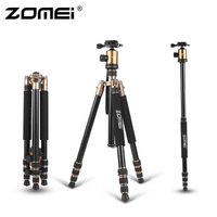 ZOMEI Z818 Protable Aluminum Magnesium Aolly Tripod Travel Camera Tripod with Ball Head Monopod Flexible For DSLR Video Camera