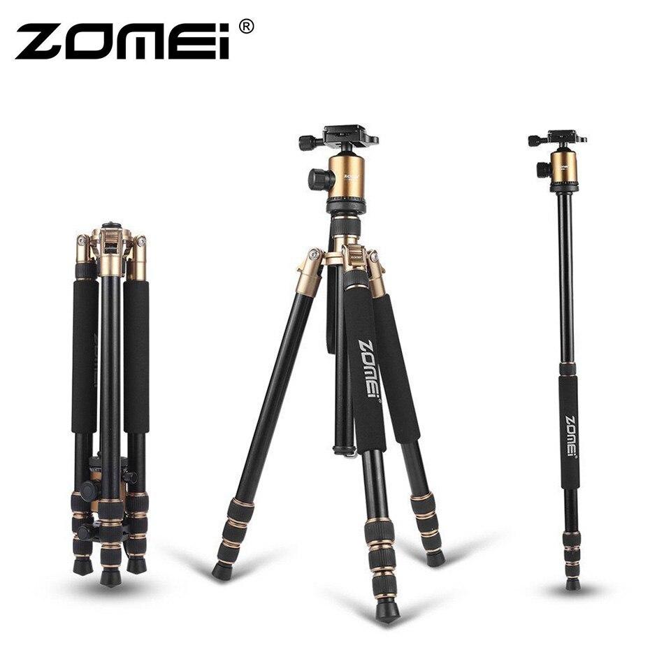 ZOMEI Z818 trépied portable en aluminium magnésium Aolly trépied de caméra de voyage avec tête sphérique monopode Flexible pour caméra vidéo DSLR