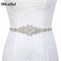 Stunning Beaded Rhinestones Wedding Belts 2019 Elegant Dress Accessories Long Sashes Dress Belt Wedding Accessories