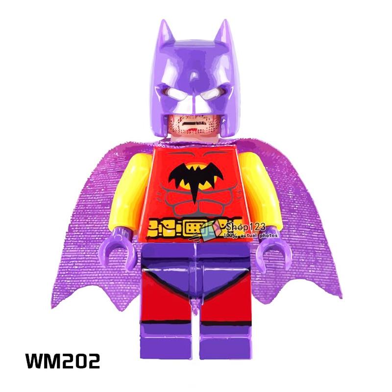 Wm202 Building Blocks Single Sale Purple Helmet Batman Dc Super Hero Avengers Cartoon Toys Assemble Bricks Kids Education Toys To Enjoy High Reputation At Home And Abroad Blocks