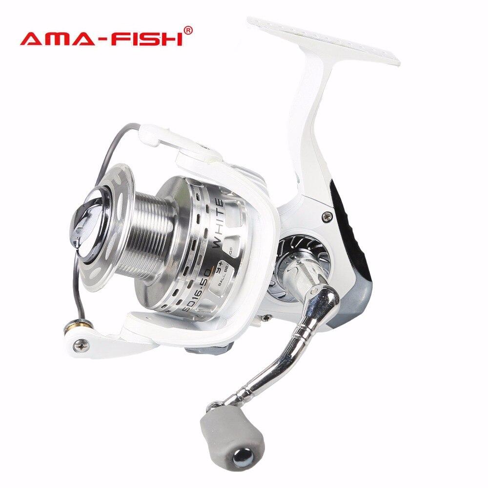 AMA-FISH спиннингом Рыбная ловля Макс Перетащите 6,0 кг 9 + 1BB для морской пресной воды + дополнительная шпуля