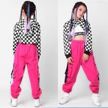 3 piezas chico lentejuelas Hip Hop ropa traje de baile de Jazz trajes  conjunto chica Casual tops polainas pantalones de baile ro. 61c460013cf