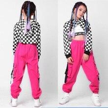 3 piezas chico lentejuelas Hip Hop ropa traje de baile de Jazz trajes  conjunto chica Casual tops polainas pantalones de baile ro. 71a8c09edde