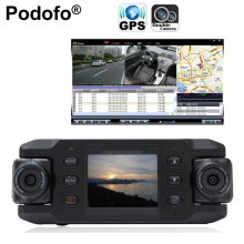 Dual Lens Car Camera Two Lens Vehicle DVR Dash Cam Loop Recorder GPS Tracker Tracking G