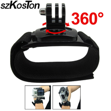 цена на For GoPro Adjustable 360 Degrees Wrist Mount Band Strap+ Screw For Gopro Hero 2 3 3+ 4 Sj4000 Sport Camera Accessories