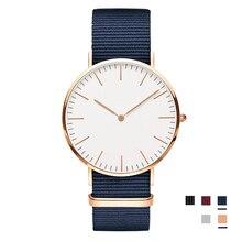 f49272826a3ab Grande marque montre homme femme 40mm Rose argent cadran Quartz rouge bleu  noir Nylon bracelet pour montres femme