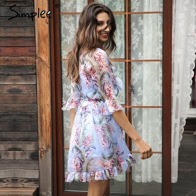 Simplee Vintage summer dress women Boho chiffon short party dresses vestidos de festa Two piece set fringe ruffle sexy dress