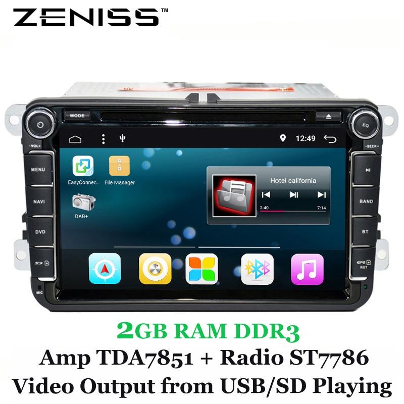 imágenes para Envío gratis 2Din de Android 6.0 Del Coche DVD para VW Golf Polo Passat Tiguan para Skodaoctavia coches reproductor de dvd radio de coche para passatb7 801
