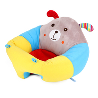 Support Soft Portable Cartoon Animal Seat Dining Chair With Toys Attachment Safety Seats Infant Baby Sitting Chair
