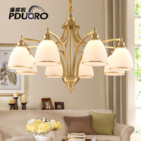 Gold copper Modern Chandelier Lighting LED E27 E26 light fixture for Bedroom villa Hotel Hall Ceiling Hanging Suspension Lamp