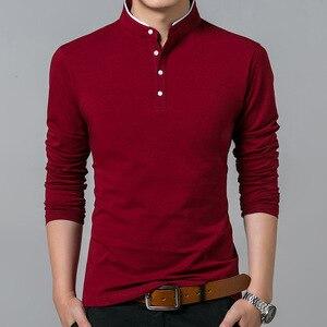 Image 3 - Hoge Kwaliteit Mannen Polo Shirt Heren Lange Mouwen Effen Polo Shirts Camisa Polo Masculina Populaire Casual Katoen Plus Size S 3XL tops