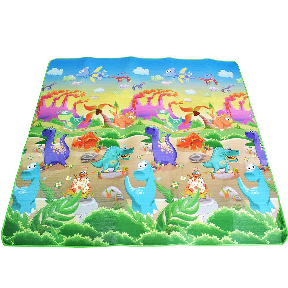 HTB1H0lZkDnI8KJjSszbq6z4KFXat Baby Crawling Play Mat 2*1.8 Meter Climb Pad Double-Side Fruit Letters And Happy Farm Baby Toys Playmat Kids Carpet Baby Game