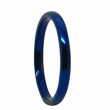 Blue Tungsten Rings High Polish Dome Wedding Band Ring Men'S Women's Jewelry