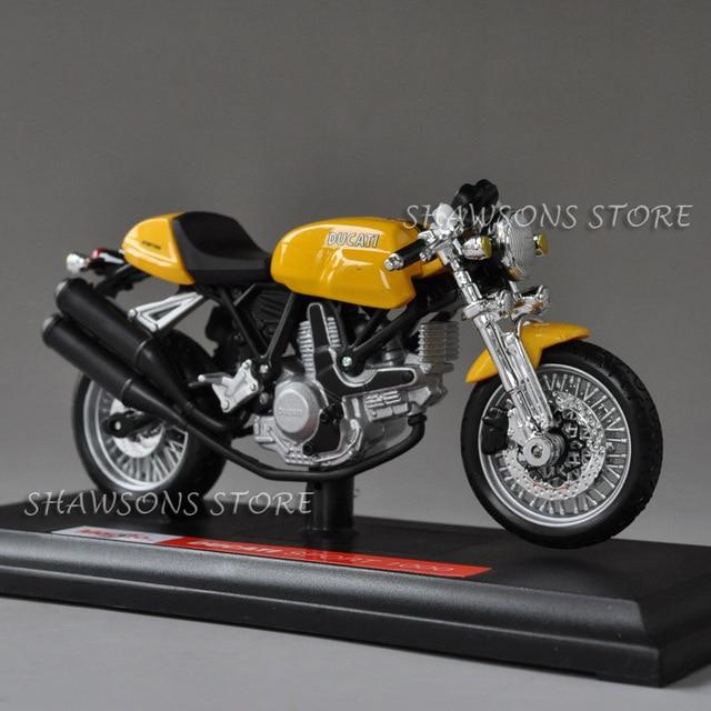 Diecast Model Toys Maisto 118 Ducati Sport 1000 Street Bike Miniature Motorcycle Replica