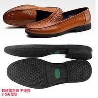 Sole shoe material leather shoes men's rubber sole business shoes tendon slip wear resistant shoe accessories