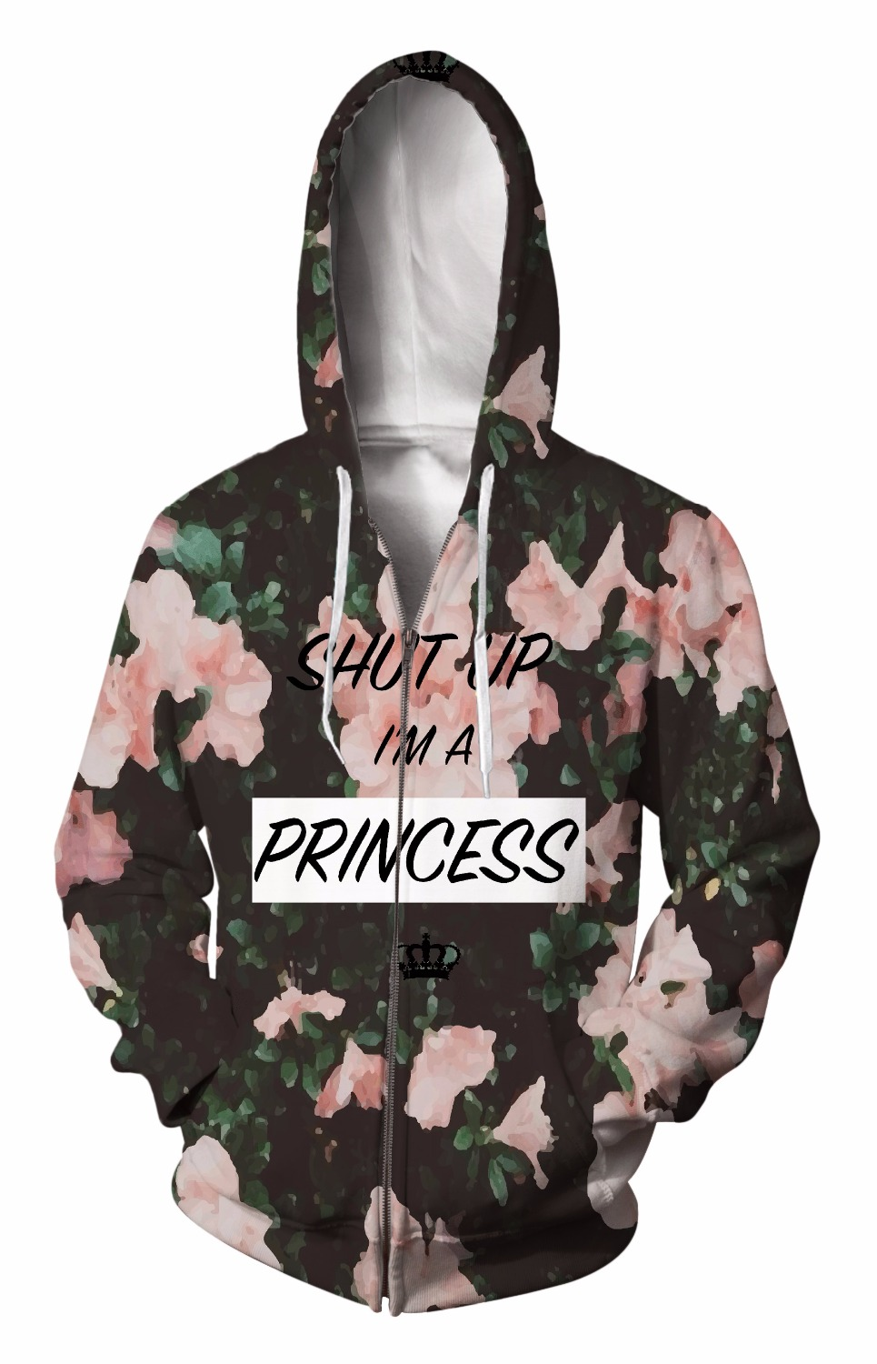 Zip-Up Hoodie 3d Print Soft flower Clothing Women Men Tops Hooded Casual Zipper Sweatshirts Outfits Coats Sweat factory outlet