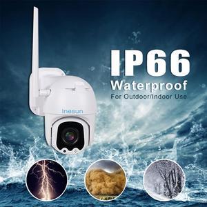 Image 2 - Inesun Ptz 無線 Lan カメラ屋外 2MP HD 1080P セキュリティ IP カメラ WiFi 4X ズーム PTZ カメラ双方向オーディオ 165ft ナイトビジョン最大 128 グラム