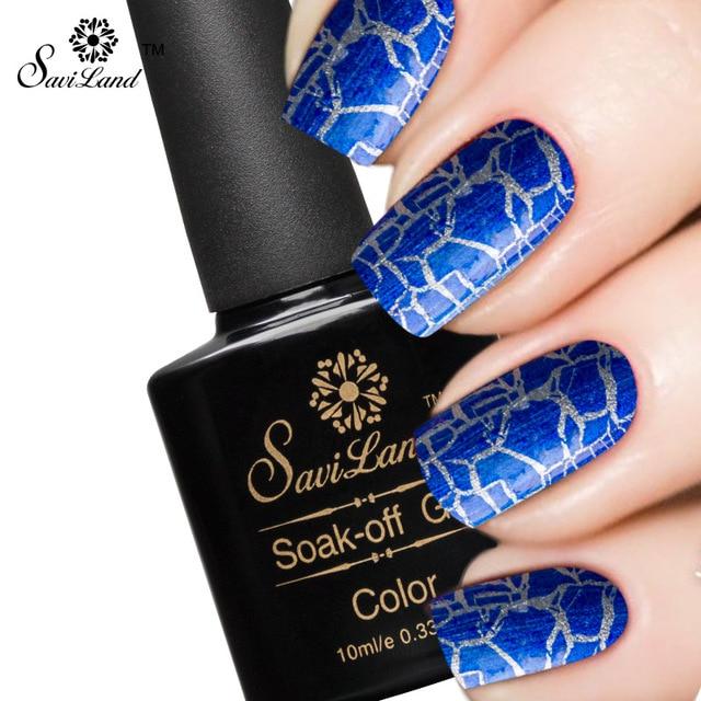 Saviland 1pcs Crackle Crack UV/LED Gel Nail Polish Fashion