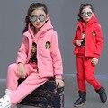 Quando o tempo frio necessidade menina roupas quentes 3 PCS tem 3 tipos de cor opcional moda estilo
