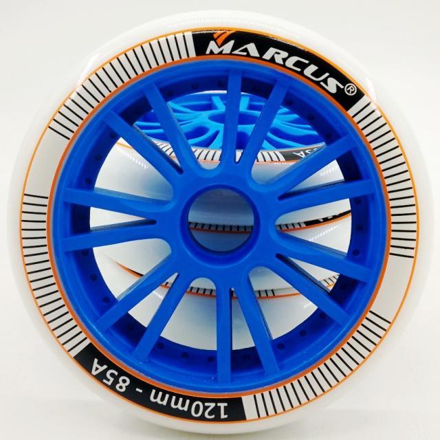 MARCUS roues de chaussures de patinage de vitesse 120mm grandes roues spéciales d'entraînement de patinage à roulettes 85A roues de patin à rouleau en polyuréthane durable