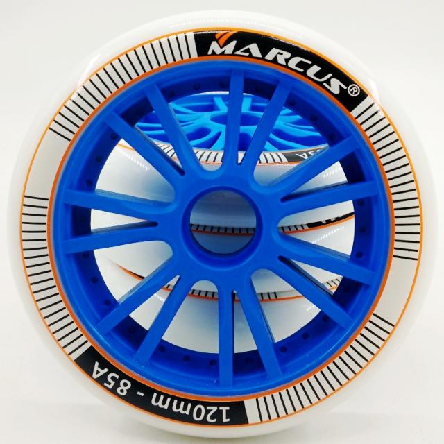 MARCUS Speed Skating Shoes Wheels 120mm Large Roller Skating Training Special Wheels 85A Durable Pu Roller Skate Wheels