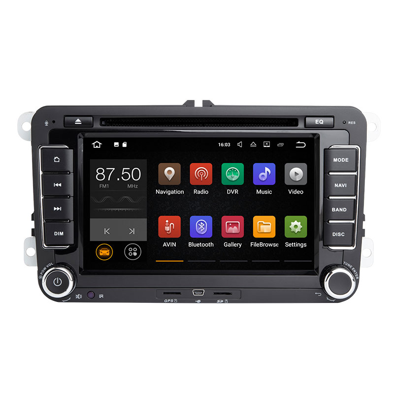 2din Android 8.1 GPS AutoRadio pour Skoda Octavia 2 Passat B6 VW T5 Polo Amarok Volkswagen superbe 3 places Leon Golf 5 6 multimédia - 2
