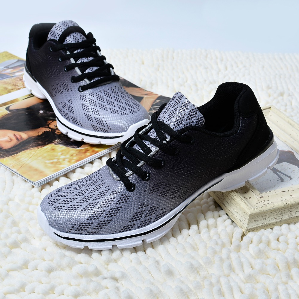 QANSI New Gradually Changing Color Women Running Shoes Spring Autumn Breathable Shoes Outdoor Sport Sneakers For Female 1678W 9