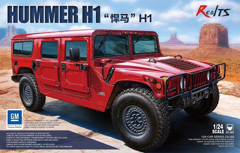 RealTS Meng Model CS-002 1/24 Hummer H1
