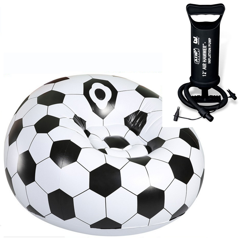 29%,Thicken Football Basketball Flocking Inflatable Chair Air Seat Chair Relax Pouf Home Furniture Outdoor Lazy Chair With Pump