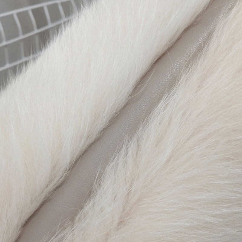 D'hiver gray Veste Femmes Hiver Fourrure light Manteau Gilet De Blue Renard 2018 Mode Zl685 Femme Vêtements Réel Yellow Mince Manches Vintage Sans Lake AS8qO