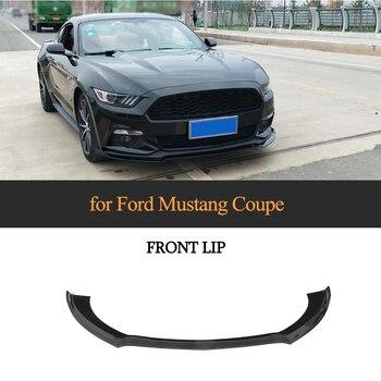 Zwart Voorbumper Lip Spoiler Splitters voor Ford Mustang 2015 2016 2017 Auto Sticker Spoiler Glossy Black
