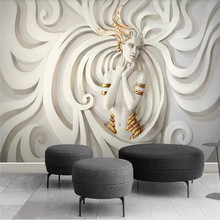 Three-dimensional sculpture beauty 3D stereo TV background wall professional production wallpaper murals custom photo wallpaper wallpaper eco friendly non woven 3d three dimensional sculpture fashion wallpaper tv background wall wallpaper