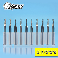 XCAN 10pcs 2mm One Flute Spiral Router Bits For Cut Wood Plastic With 3 175 Shank