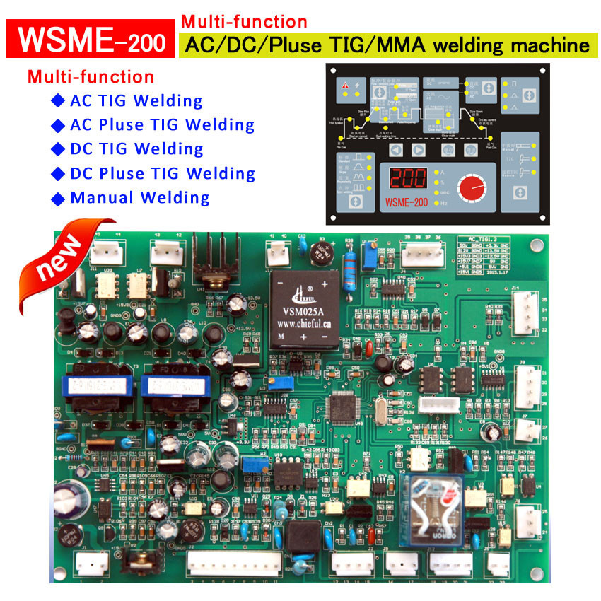 welding control board WSME 315 multi-function control panel pcb card for IGBT AC / DC / Pulse / TIG / MMA welding machine цена и фото