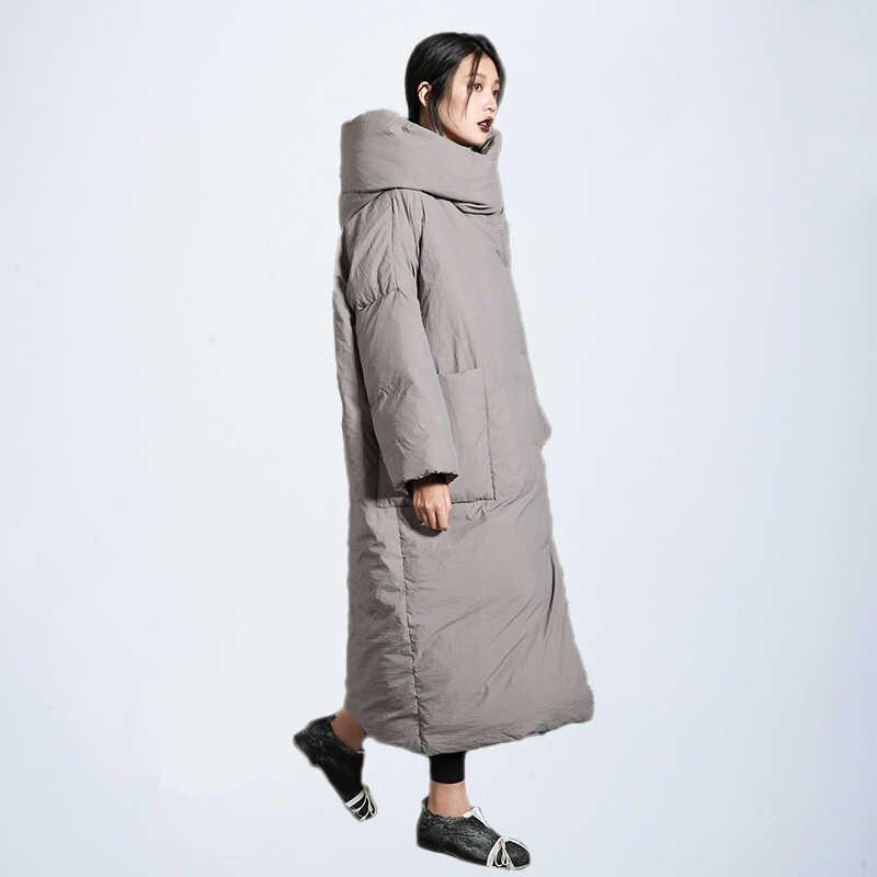 Женская зимняя удлиненная куртка, стильное стеганое пальто, утепленная ветрозащитная куртка из новой зимней коллекции, 2019