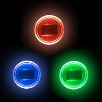 Auto Ambient LED Verlichting Solar Water Cup Bodem Pad Acryl Auto Decoratie Bekerhouder Auto Sfeer Verlichting Auto Decoratieve Verlichting